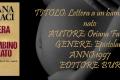 Lettera a un bambino mai nato, Oriana Fallaci - Recensione
