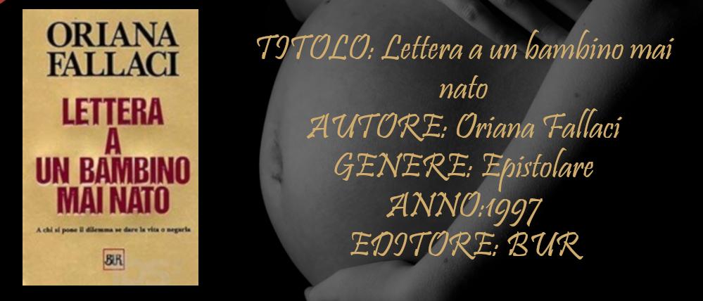 Lettera a un bambino mai nato